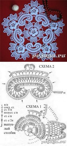 Technology of the Irish knitting of a napkin // домоседочка россия Irish Crochet Patterns, Crochet Doily Patterns, Crochet Diagram, Crochet Chart, Crochet Designs, Crochet Dollies, Crochet Flowers, Crochet Lace, Freeform Crochet