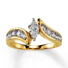 Kay Jewelers, size 6.5 I love this ring!!!  Diamond Engagement Ring 3/4 ct tw Marquise-Cut 14K Yellow Gold