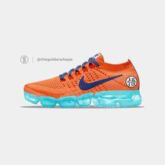 Dragon Ball Super x Nike Air VaporMax Goku Best Sneakers, Sneakers Nike, Nike Shoes, Hiking Shoes, Running Shoes, Sneaker Heads, Nike Air Vapormax, Sports Shoes, Shoe Game