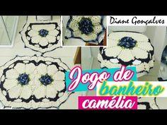 JOGO DE BANHEIRO CAMÉLIA(TAPETE VASO)DIANE GONÇALVES - YouTube
