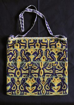 Mazahua Bag Mexico This embroidered bag was made in the Mazahua community of San Felipe Santiago in the state of Mexico