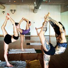 weareyoga:Gianna Purcell and friends..the tattooed Yogi