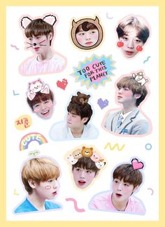 Pop Stickers, Tumblr Stickers, Printable Stickers, Planner Stickers, Bts Chibi, Aesthetic Stickers, Pretty Wallpapers, Nct, Bts Wallpaper