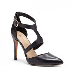 Perfect black leather shoes for the office.  Not too high s heel & confortable!