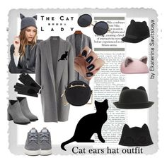 Cat ears hat outfit by esavitskaya on Polyvore featuring мода, CÉLINE, Keds, Betsey Johnson, Helene Berman, Silver Spoon Attire, Mulberry, Eugenia Kim and Polaroid