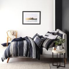 Private-Collection-HAMILTON-INK-Super-King-Size-Bed-Duvet-Quilt-cover-Set