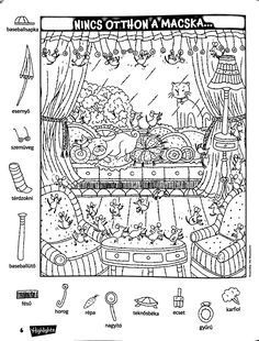Holiday Crafts 4 Kids - New Year's Eve Hidden Picture Hidden Object Puzzles, Hidden Objects, Find Objects, Hidden Picture Games, Hidden Picture Puzzles, Colouring Pages, Coloring Pages For Kids, Coloring Books, Library Activities