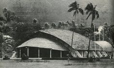 Lee Auditorium 1962 - Pago Pago, American Samoa. This building is also known as the Turtle Auditorium or Fale Laumei due to its architectural design.