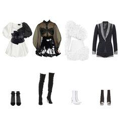 Blackpink - Fashion look Fashion Idol, Dance Fashion, Blackpink Fashion, Kpop Fashion Outfits, Indie Outfits, Retro Outfits, Girly Outfits, Casual Outfits, Cute Outfits