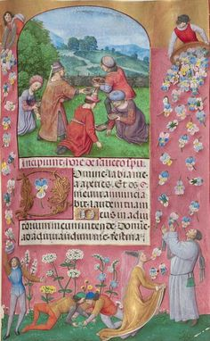 Sacred liturgy and liturgical arts. Liturgical history and theology. The movements for the Usus Antiquior and Reform of the Reform. Medieval Manuscript, Illuminated Manuscript, Illuminated Letters, Medieval Art, Floral Illustrations, Botanical Illustration, Illustration Art, Haring Art, Keith Haring