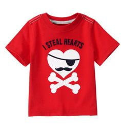 Valentine Gift Ideas for Kids and Boys: I Steal Hearts Pirate T-Shirt for Baby & Toddler Boys @ Crazy 8