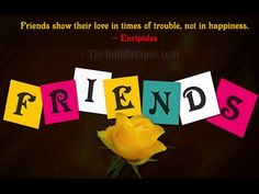 """Friendship Day - Friends Are For Ever! By [http://ift.tt/2ar0EEI Jayaswal   I'm sure that many of you will have heard the song by the famous American singer Dionne Warwick - """"...Keep smiling...keep shining...that's what friends are for..."""" This is a song about friends and friendship for it is truly a hallowed and revered institution since time immemorial.  Friendship reminds us of all the people that are near and dear in many ways. For many of us it is difficult to describe feelings about…"""