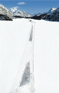 andreas gursky – engadin ll – 2006 – framed: 307 x 205 cm – c-print Andreas Gursky, History Of Photography, Art Photography, Modern Photographers, Alfred Stieglitz, Contemporary Photography, Abstract Photos, Photo Art, Scenery