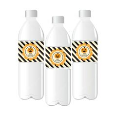 Classic Halloween Personalized Water Bottle Labels