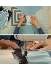 Sewing Panties - installing the crotch lining and attaching lace