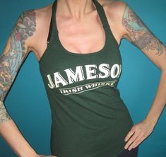 Halter Top Shirts, Jameson Irish Whiskey, Vintage Tees, St Patricks Day, Snug Fit, How To Look Better, Lingerie, Womens Fashion, Lazy