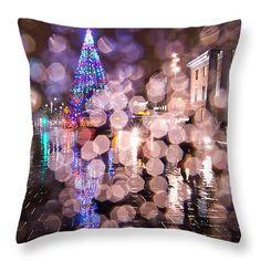 "Christmas Tree Throw Pillow 14"" x 14"""