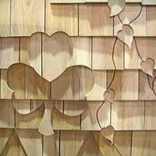 designs cut into cedar shakes | your existing shingle siding or install when applying new shingles