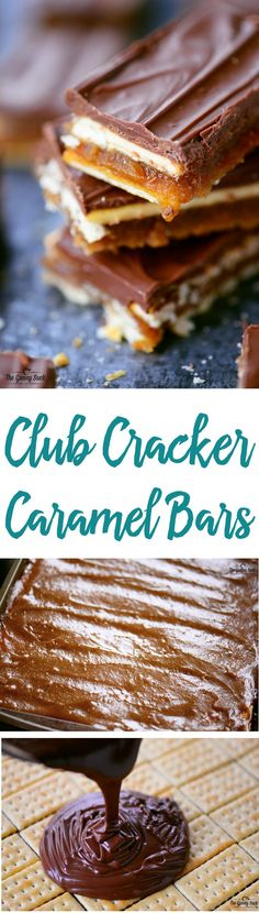 bringing these Club Cracker Caramel Bars to your next get together and watch them fly off the plate! They are simply irresistible! Caramel Recipes, Candy Recipes, Sweet Recipes, Cookie Recipes, Dessert Recipes, Mini Desserts, Easy Desserts, Delicious Desserts, Yummy Food