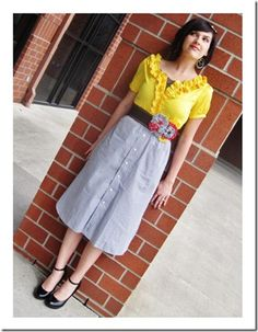 Another upcycled shirt ---> skirt...