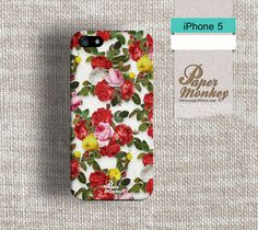 iPhone 5 case, iPhone 4 case, Decoupage case for iPhone : Floral Rose.. $17.90, via Etsy.