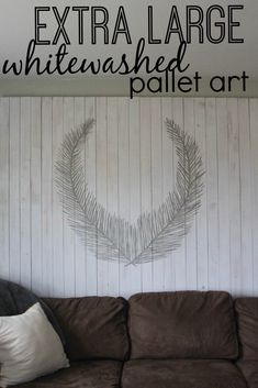 Creating your own whitewashed pallet art.  A DIY tutorial for non-painters.  www.thedempsterlogbook.com