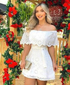 All White Party Outfits, Cute Summer Outfits, Cute Outfits, Summer Dresses, Casual Dresses, Short Dresses, Fashion Dresses, Outfit Elegantes, Lace Dress
