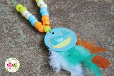 These feather necklaces are a fun fine motor activity for kids and are a perfect addition to a Thanksgiving, turkey, or bird themed lesson. Thanksgiving Crafts For Kids, Holiday Crafts, Thanksgiving Turkey, Kids Crafts, Fine Motor Activities For Kids, Craft Activities, Africa Craft, Feather Necklaces, Beaded Necklaces
