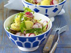 Kartoffelsalat-Rezepte von klassisch bis mediterran - kartoffelsalat-mit-rauke  Rezept