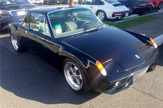 1974 PORSCHE 914 CUSTOM TARGA - pro-built Chevrolet 350ci V8, 5-speed 911 gearbox, 930 Porsche Turbo brakes, dual exhaust with custom headers, aluminum radiator and 3-piece polished Fuchs wheels
