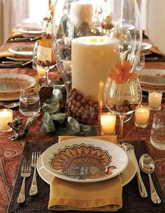 thanksgiving table decorations -