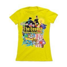 Camiseta Feminina The Beatles - Yellow Submarine