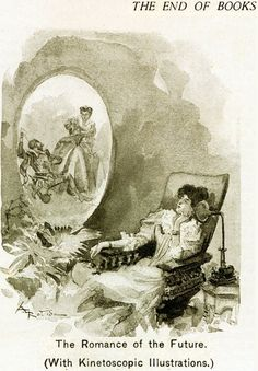 Kinetoscopic from Albert Robida Albert Robida, Lincoln In The Bardo, Sci Fi Novels, Joy Of Life, Science Fiction Art, Retro Futurism, French Artists, Dieselpunk, Stone Painting