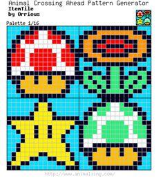 Mario Bros. Item Tile_Palette 1/16