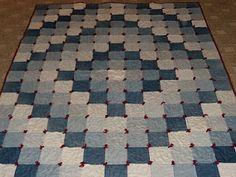 Sew in Peace: Denim Quilts Denim Quilt Patterns, Denim Quilts, Quilting Projects, Quilting Designs, Sewing Projects, Jean Crafts, Denim Crafts, Rag Quilt, Quilt Blocks