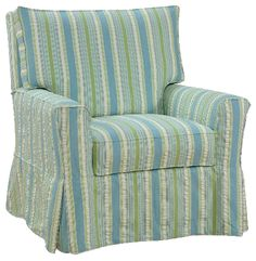 I think this was the style (but not the fabric) of the chairs at Bald Head Island.  Definitely the company.  like it--small enough for our house. Four Seasons - Casual Custom Furniture