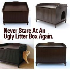 Pretty litter boxes for your cat