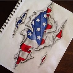 American flag tattoo design. Army Tattoos, Dope Tattoos, Badass Tattoos, Body Art Tattoos, Sleeve Tattoos, Tattoos For Guys, Tatoos, Flag Tattoos, Texas Tattoos