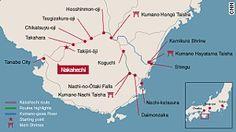 Map: Nakahechi Route, Kumano Kodo