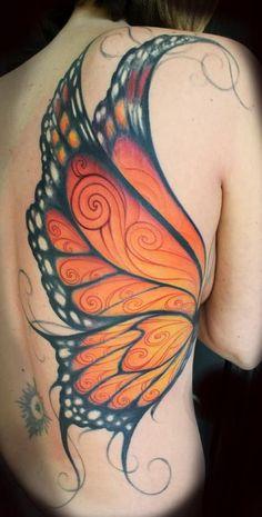 Tattoos, butterfly back tattoo и butterfly wing tattoo. Wing Tattoo Arm, Butterfly Wing Tattoo, Butterfly Tattoos For Women, Butterfly Tattoo Designs, Butterfly Design, Wing Tattoos On Back, Neue Tattoos, Body Art Tattoos, Girl Tattoos