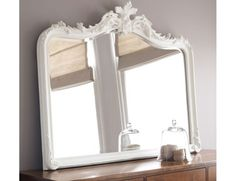 Patricia White Overmantel Mirror #LauraAshleySS14