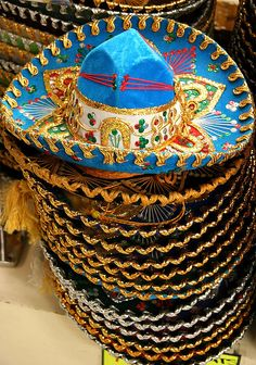 Sombreros from Mexico! Recommended by Andrea Beaty, author of Happy Birthday Madame Chapeau. Mexican Folk Art, Mexican Style, Mexican Fashion, Latin America, South America, Monuments, Mexican Heritage, South Of The Border, No Bad Days