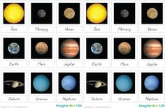Free Solar System Unit 3 Part Cards from Imagine Our Life