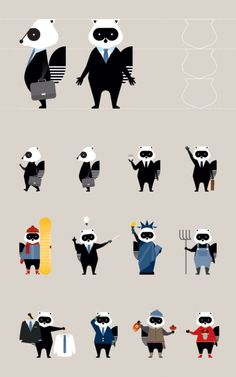 The Porter Airlines raccoon Flat Design Illustration, Creative Illustration, Character Illustration, Graphic Illustration, Raccoon Art, Racoon, Brand Character, Game Character Design, Icon Design