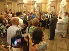 On the Eagle Forum Capitol tour tonight. Thanks to Congressman Steve King (R-IA) for hosting. (9-12-2013)
