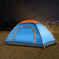 Pop Up Camping Tent by TSWA , Automatic amp; Instant Setup Dome