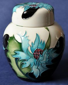 Moorcroft Pottery Sea Holly 769/4 Emma Bossons http://www.bwthornton.co.uk/moorcroft.php