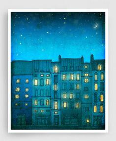 Vous n'êtes pas seul vertical illustration Paris Art par tubidu