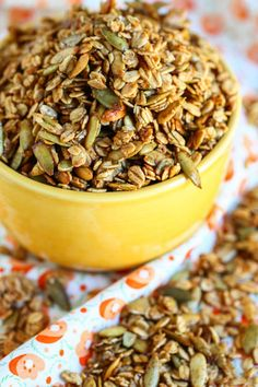 Dreaming of a new granola flavor...this one! Pumpkin Crunch Granola - from @eatliverun