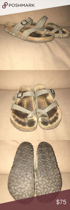 Birkenstock Mayari Sandals • Birkenstock Mayari Sandal • Green/Stone • 37 • 7 • Gently used • In good condition • Not interested in trades • Open to reasonable offers • Bundle and save Birkenstock Shoes Sandals